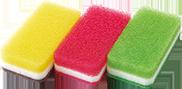 ダスキン 台所用スポンジ3色セットS抗菌タイプ
